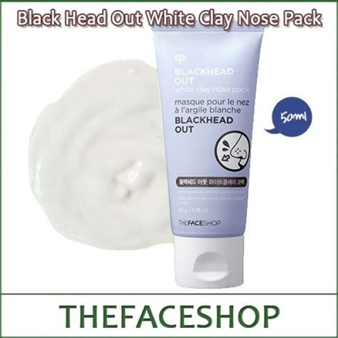 Harga The Shop Blackhead Out White Clay Nose Pack blackhead out white clay nose pack 50g
