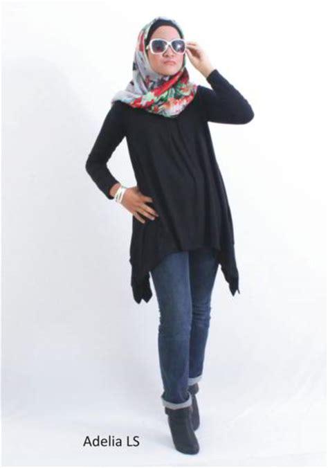 Baju Atasan Muslim Wanita Top Murah Terbaru Azella Tunik Tunic baju gamis plus cardigan gamis murni