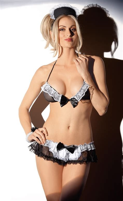 service french maid lingerie costume