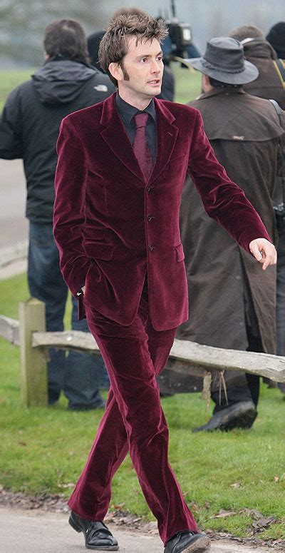 david tennant purple suit movies tv first set photo of david tennant as quot the