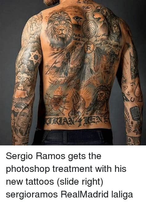 sergio ramos tattoo wrist sergio ramos gets the photoshop treatment with his new