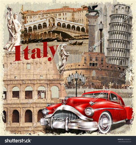 imagenes vintage italia italy vintage poster stock vector 259558271 shutterstock