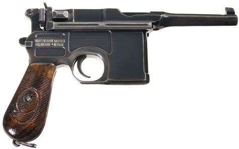 the broomhandle mauser weapon 1472816153 post wwi 1896 broomhandle mauser police 1920 rework pistol pistol firearms auction lot 307