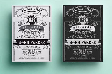 retro birthday card template invitation card template 46 free psd ai vector eps