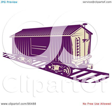 box car clipart royalty free rf clipart illustration of a purple box car