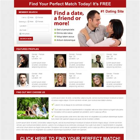 dating site about me template dating landing page design templates for your