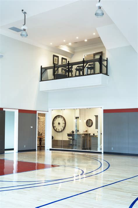 Home Indoor Basketball Court Home Gym Contemporary With Home Basketball Court Design