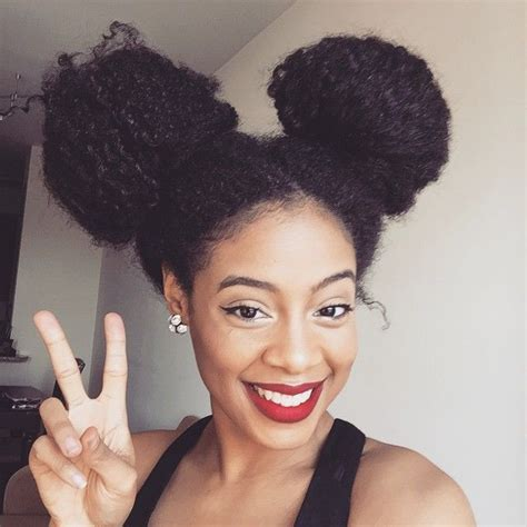 afro puff pocket bun hairstyles afro puffs and double buns 15 naturals who make kiddie