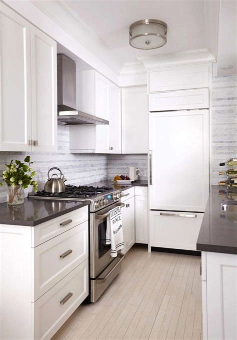 apartment galley kitchen ideas before and after a drab nyc apartment gets a mod makeover