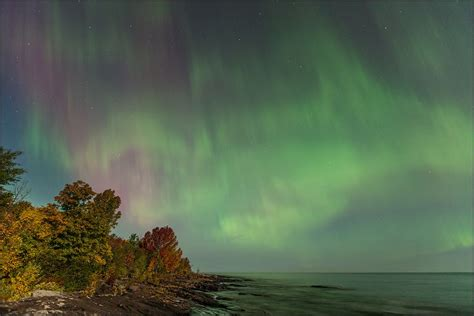 northern lights vacations michigan northern lights lake superior from union bay