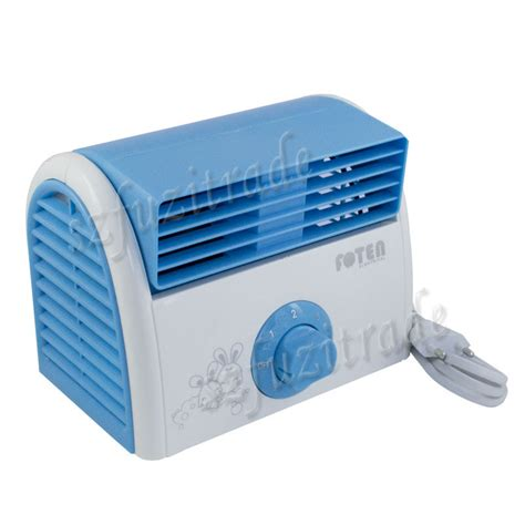 Ac Portable Ac Mini Desk Mini Fan 1300g mini portable desktop bladeless fan refrigeration no