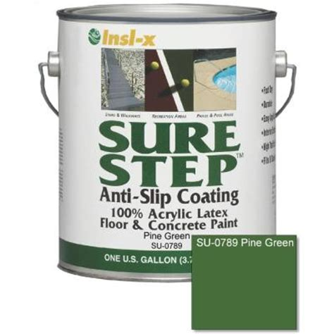 sure step 1 gal pine green satin concrete paint su 0789 the home depot