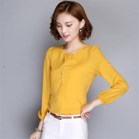 Best Quality Nf Blouse New Korean Shirt Blouse Lace Henley Blouse