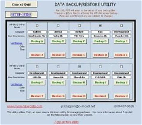 Freeware Download Data Backup Log Excel Template Data Backup Schedule Template