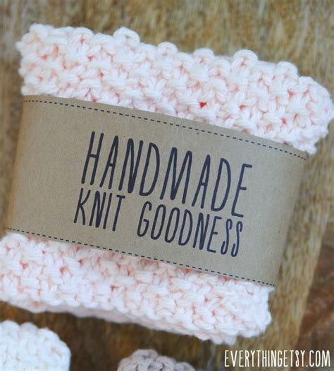 Labels For Handmade Knitted Items - handmade knit goodness labels free printables on
