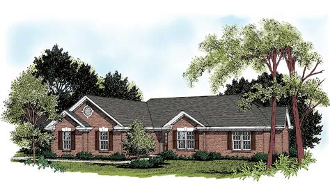 Traditional Brick House Plans by Traditional Brick Ranch 2007ga Architectural Designs