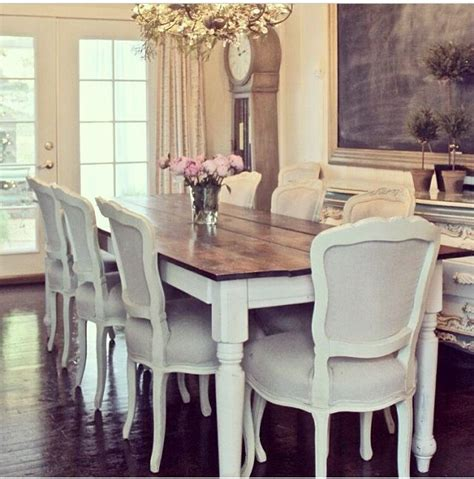 gorgeous dining table white legs wooden top kitchen table