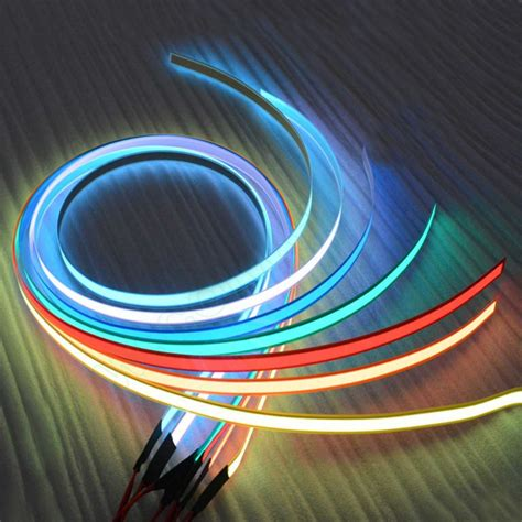Led Wire 12v 1m glow el led light el wire rope cable