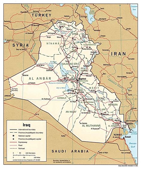 map iraq nationmaster maps of iraq 76 in total