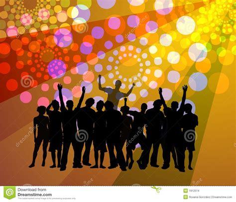 Kancing Bekleding mensen die discoatmosfeer dansen stock afbeeldingen