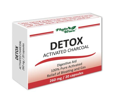 Charcoal Pills For Detox by Phyto Wave Detox Activated Charcoal Factproducts