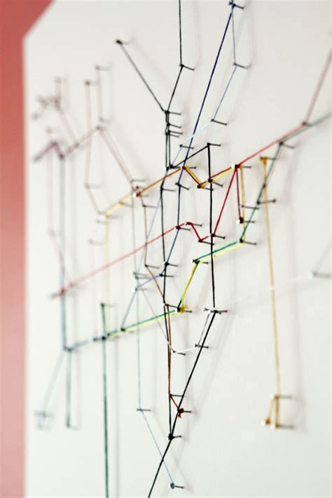 Diy String Map - underground map made from string colossal