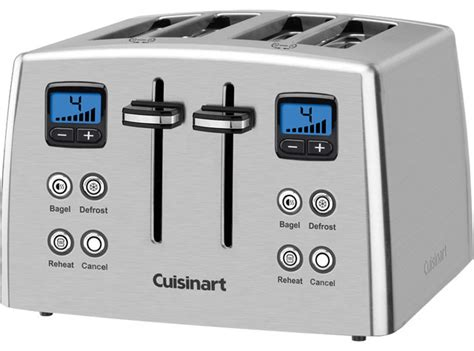 Toaster 4 Slice Long Slot Cuisinart 4 Slice Countdown Metal Toaster Contemporary
