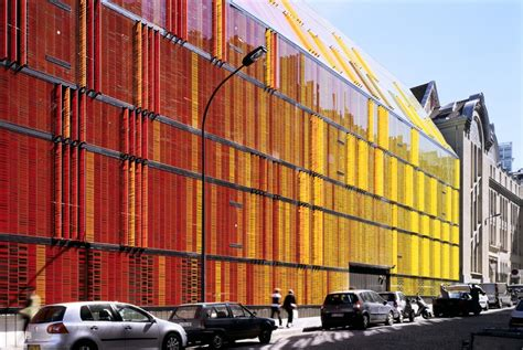 Mba After Architecture by Colorful Painted Glass Facade Contrasts Classical