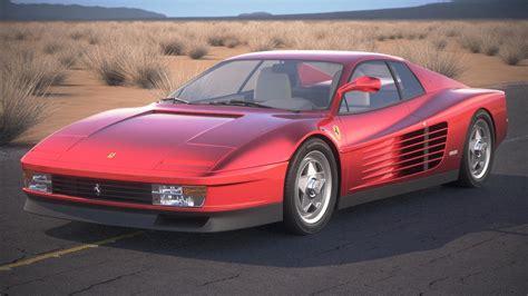 ferrari classic models ferrari testarossa 1984 3d model