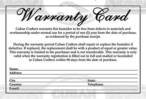 warranty certificate template word warranty card templates certificates word excel pdf