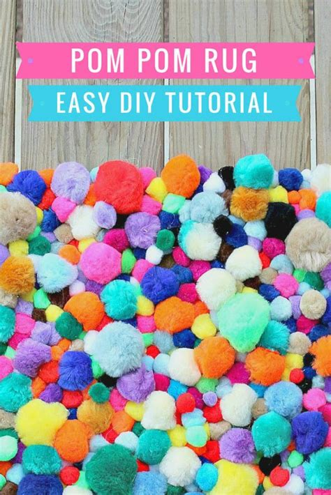 how to make a yarn pom pom rug how to make a pompom rug diy tutorial
