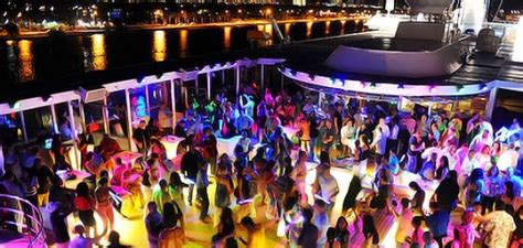 miami night party boat with drinks night shift an overnight hedonistic boat party