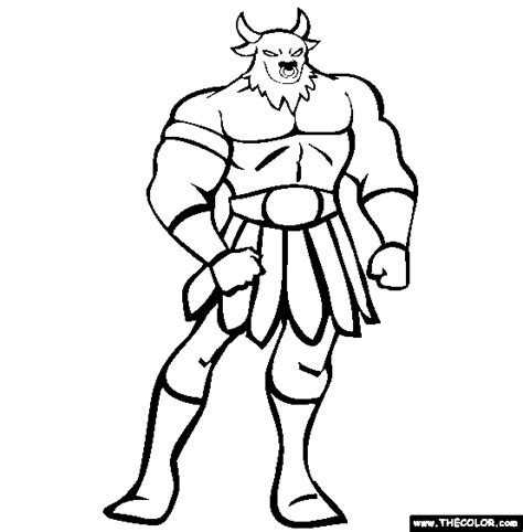 Online Coloring Pages Starting With The Letter T Page 5 Minotaur Coloring Pages