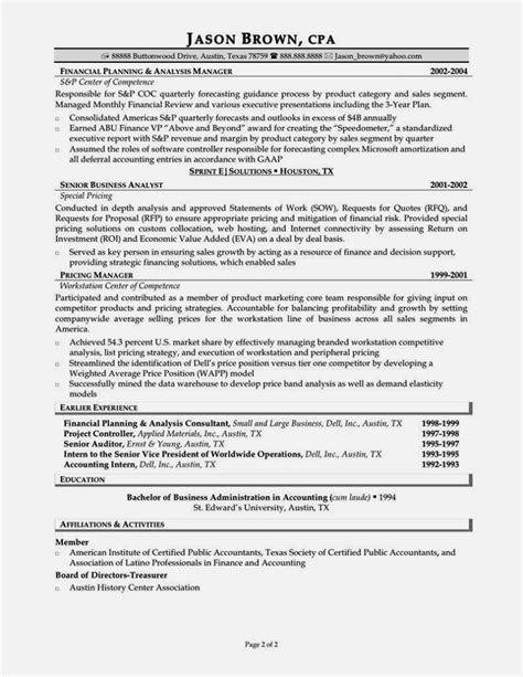 entry level accounting resume sle resume template