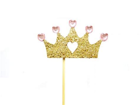 Topper Crown Glitter gold glitter princess crown topper birthday cake topper 1st birthday cake bunting
