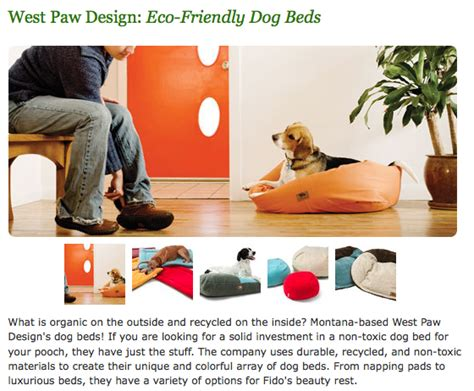West Paw Designs Organic Beds Hurley by Re Nest Checks Out West Paw Design S Eco Friendly