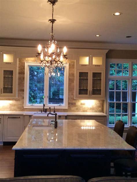 pin lights for kitchen cream colored cabinets taj mahal quartzite countertops