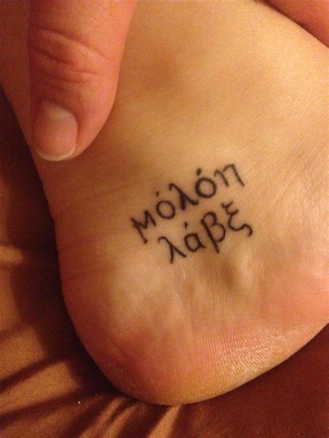 molon labe tattoo designs my molon labe tat s i lovee molon