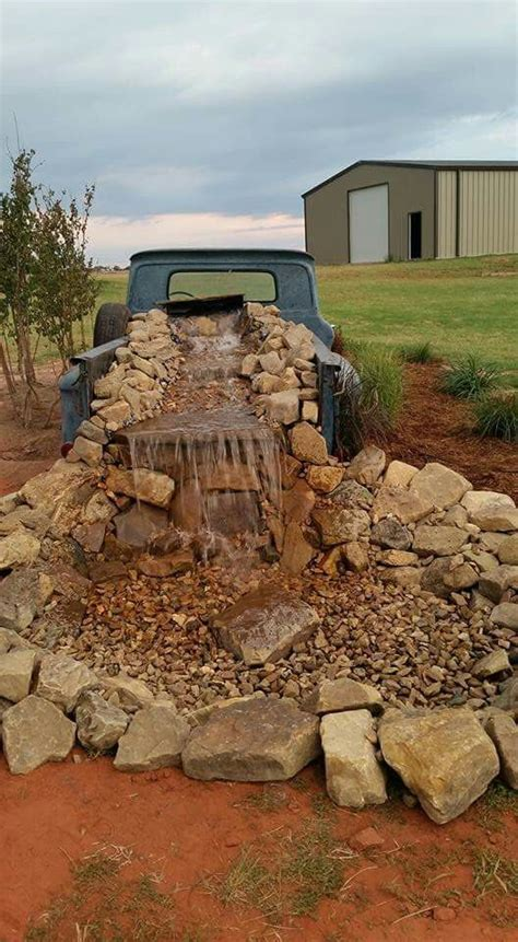 old western home decor rustic western yard decor old pickup waterfall large