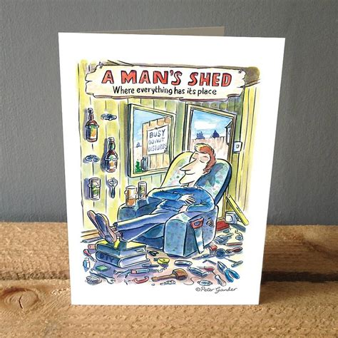Shed Card by A S Shed Greetings Card By A Gander