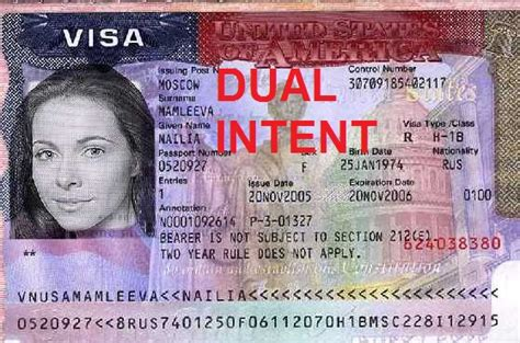 Applying For A Visa To America With A Criminal Record Dual Intent Visas For Immigration Immigrate To America