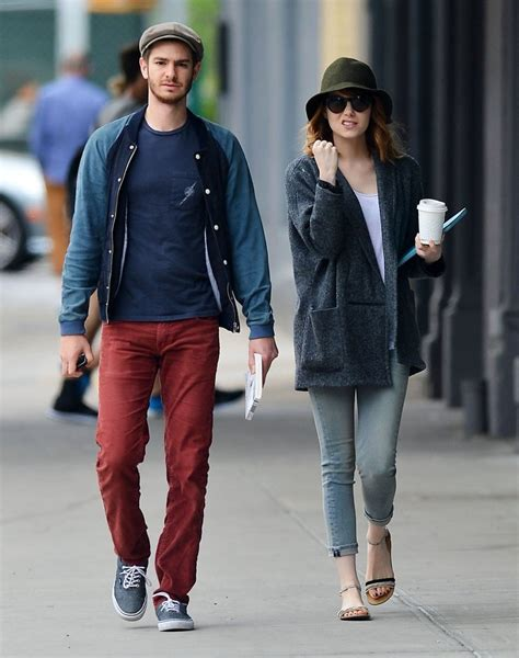 emma stone andrew garfield emma stone and andrew garfield s coffee date 3 of 12 zimbio