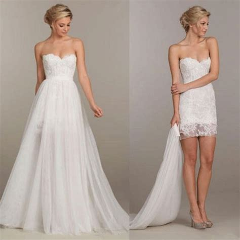 Dress Model White 2in1 Style Impor detachable wedding dress oasis fashion