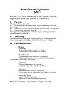 organization bylaws template best photos of pto bylaws template sle bereavement