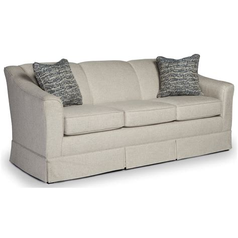 sofa with skirted base best home furnishings emeline customizable 84 quot sofa with