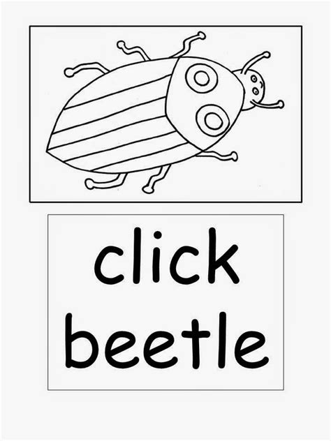 The Clumsy Click Beetle Coloring Pages