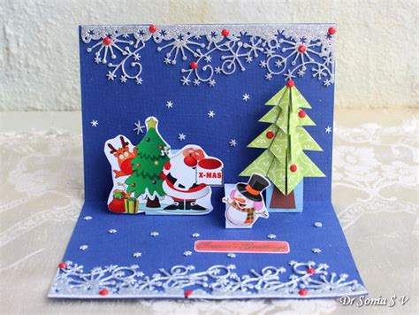 cards crafts kids projects pop up christmas tree card