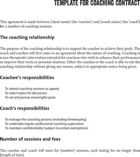 Life Coaching Contract Template Download Free Premium Templates Forms Sles For Pdf Formats Coaching Confidentiality Agreement Template