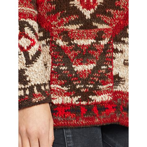 Ralph Patchwork Sweater - ralph patchwork wool shawl cardigan zip sweater