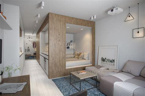 Impressionnant Amenager Chambre Dans Salon #4: Amenager-un-appartement-de-petite-surface-1.jpg
